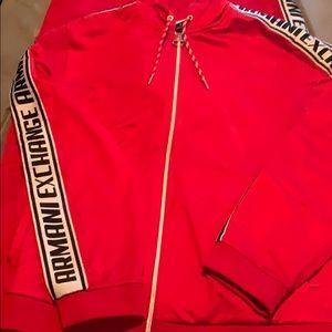 Men's Red Armani Exchange Sweatsuit